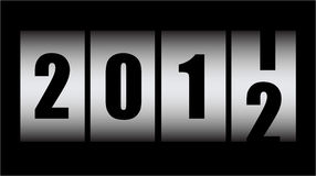2011/2012. Counting new year - 2011/2012 Royalty Free Stock Photos