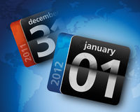 2011 2012 kalendarzowy świat royalty ilustracja