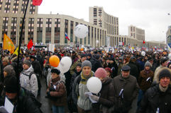 2011 24th december moscow protest Royaltyfria Foton