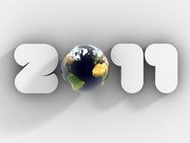 2011 3d玻璃地球新年度 免版税图库摄影