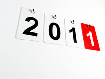 2011 3d background. 3d image of 2011 calendar for new year day Royalty Free Illustration
