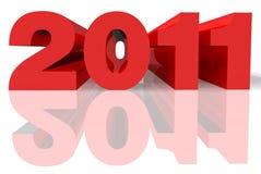 2011 3d em vermelho e em cinzento Fotos de Stock Royalty Free