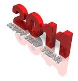 2011 3d in rosso ed in grigio Fotografia Stock Libera da Diritti