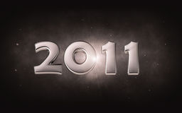 2011 - 3d silver date Stock Photography