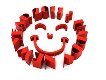 2011 - 3d Year. 2011 Happy New Year with Happy Face stock illustration