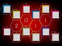 2011 abstrakta kalendarz Obrazy Royalty Free