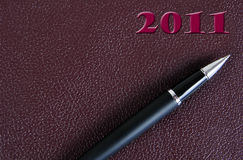 2011 Agenda. Stock Foto's