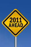 2011 ahead sign Royalty Free Stock Photo