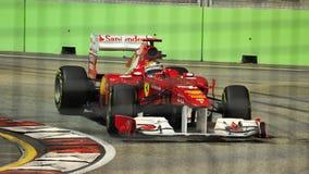 2011 Alonso f1 Fernando Singapore Fotografia Stock
