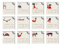 2011 animals calendar. Against white background, abstract vector art illustration Royalty Free Stock Photography