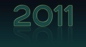 2011 anno illustrazione di stock