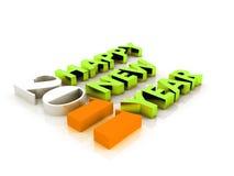 2011 - anno 3d Immagine Stock