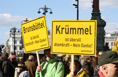 2011 anti germany kärn- strömprotest Arkivbilder