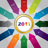 2011 arrow calendar design. 2011 colorful arrow calendar design Royalty Free Stock Image