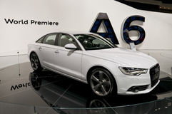 2011 Audi A6 at NAIAS Royalty Free Stock Photo