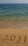 2011 auf dem Strand. Lizenzfreie Stockbilder