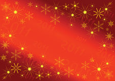 2011 Background. 2011 new year card with the space for text Royalty Free Stock Photography