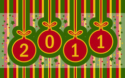 2011 background. Illustrated new year 2011 background Stock Photography