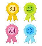 2011 badge certificate Stock Photography