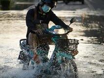 2011 Bangkok powódź Październik Fotografia Royalty Free