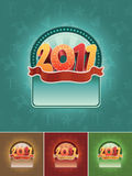 2011 banner set. Christmas 2011  banner set. All elements are layered separately in  file. Easy editable CMYK color mode Stock Image
