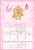 2011 behandla som ett barn kalender s Royaltyfri Bild