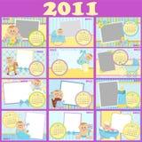 2011 behandla som ett barn kalender s Arkivfoton