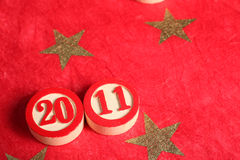 2011 - bingo numbers Royalty Free Stock Photo