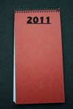 2011 blank callendar planner notepad Stock Photography