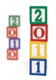 2011 bloques de madera Imagen de archivo libre de regalías