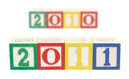 2011 bloques de madera horizontales Fotos de archivo libres de regalías