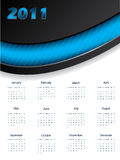 2011 blue calendar design. Template royalty free illustration
