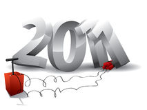 2011 bombarderar Stock Illustrationer