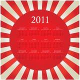 2011 bristande kalender royaltyfri illustrationer