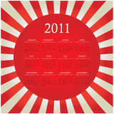 2011 bursting calendar. Red special 2011 bursting calendar Royalty Free Illustration