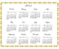 2011 Calendar. With a decorative border royalty free illustration