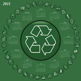 2011 calendar. With recyclable materials theme Royalty Free Stock Photo