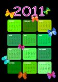 2011 calendar. Decorated with butterflies Royalty Free Stock Photography