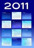 2011 calendar. In white and blue Stock Photos