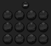 2011 calendar. Monochrome black and white icon 2011 calendar stock illustration