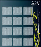 2011 calendar. A twelve month calendar for 2011 Stock Photos