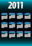 2011 Calendar. 2011 Blue and Shiny Calendar vector illustration
