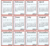 2011 Calendar. On Spiral Notebooks Royalty Free Stock Images