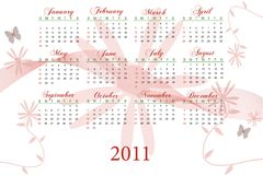 2011 Calendar Stock Images