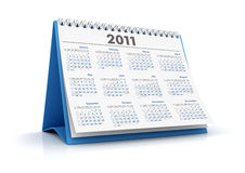 2011 calendar. 3D desktop calendar 2011 in white background royalty free illustration