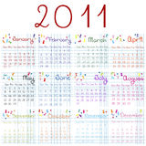 2011 calendar. On math pages Royalty Free Stock Photo