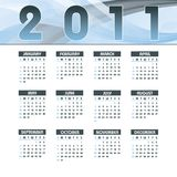 2011 Calendar. 2011 Calendar with Abstract Background vector illustration