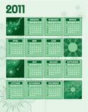 2011 Calendar. 2011 Calendar with Abstract Background Stock Illustration