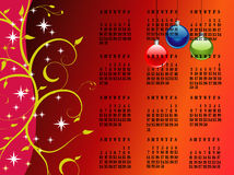 2011 calendar. 2011 christmas theme calendar royalty free illustration
