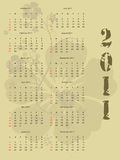 2011 calendar Royalty Free Stock Photo